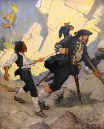 "The Hostage by N. C. Wyeth. ""Treasure Island"" by Robert Louis Stevenson. NY: Charles Scribner's Sons, 1911."